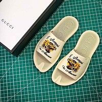 Gucci Leather Slide With Bow #3 Sandals