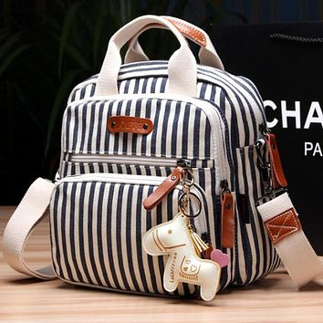 Backpack Diaper Bag with Horse Keychain