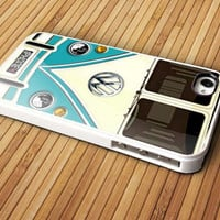 Blue teal volkswagen - iPhone 4 / iPhone 4S / iPhone 5 / Samsung S2 / Samsung S3 / Samsung S4 Case Cover