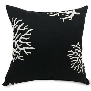 Black Coral Extra Large Pillow