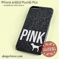 Black Glitter Victoria's Secret Phone case for iPhone 6/6s/6 Plus/6S plus