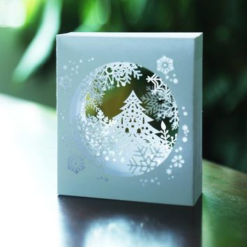 Birthday Gift Greeting Cards With Envelope Snowflake Paper Card Christmas New Year Party Wedding Decoration