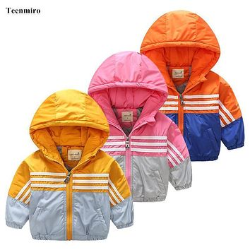 Thick Children windbreaker Toddler Boys Girls Jacket Coat Clothes Kids Outerwear Spring Blazer Clothing waterproof baby outwear