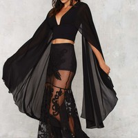 Nasty Gal Kimono Possible Cape Top