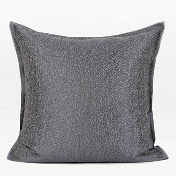 "Gray Solid Color Chenille Pillow 20""X20"""
