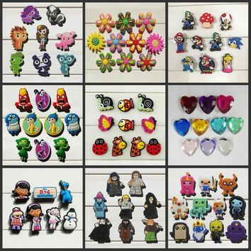 6-10pcs Mickey Monster Adventure time Crystal shoe accessories shoe charms shoe decora