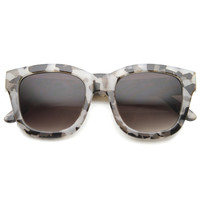 Women's Oversize Marble Print Cat Eye Sunglasses 9924