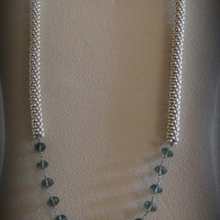 Jewelry, Kumihimo Necklace, Moss Green Aquamarine, Statteam