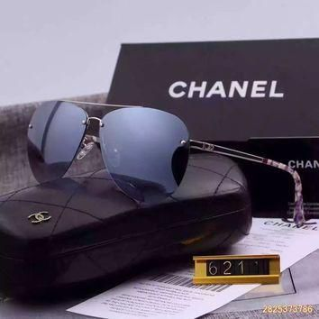 Original Chanel Polarized Flash Lenses Sunglasses Half Frame 6211 - 34