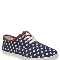 Polka Dot Print Tennis Shoes | Wet Seal