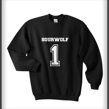 Sourwolf 1 White ink teen wolf beacon hills lacrosse Unisex Crewneck Sweatshirt S to 3XL Black