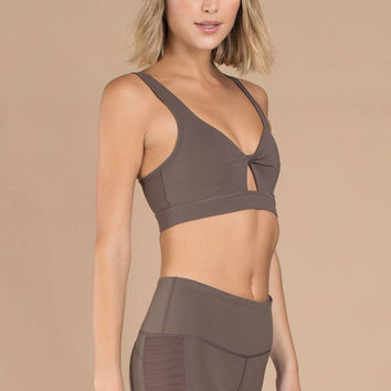 Leo Twisted Front Sports Bra