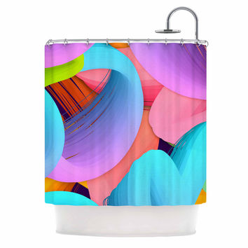 "Danny Ivan ""Funny"" Multicolor  Shower Curtain"