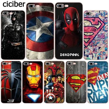 Deadpool Dead pool Taco Phone Cases Iron Man Superman  DC Marvel Silicone Soft Coque for Apple iphone 8 7 6 6S PLUS X 5S 5 SE 10 Fundas Cover AT_70_6