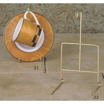 Wire Stand for Espresso Cup and Saucer or Cappuccino Cup and Saucer 2 Sizes