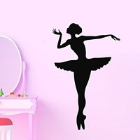 Wall Decal Ballerina Ballet Dancer Gymnastics Dance Studio Vinyl Sticker Decals Ballerina Nursery Decor Bedroom Interior C591