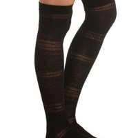 Mixed Stitch Over-the-Knee Socks by Charlotte Russe