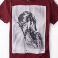 AEO Men's Owl Graphic T-shirt (Wineberry)