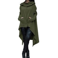 OYDDUP Oversize Hoodie Sweatshirt Women Casual Outwear Hoody Loose Long Sleeve Mantle Hooded Cover Pullover