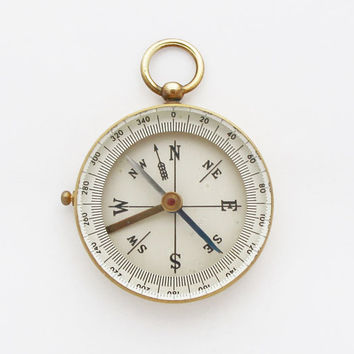 1930s German Brass Pocket Compass