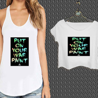 Fall Out Boy Put On Your War For Woman Tank Top , Man Tank Top / Crop Shirt, Sexy Shirt,Cropped Shirt,Crop Tshirt Women,Crop Shirt Women S, M, L, XL, 2XL*NP*