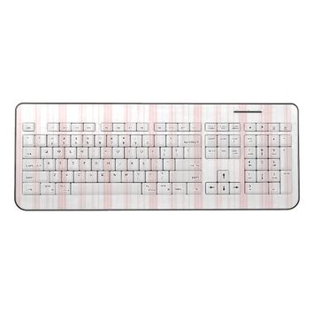 Wireless Keyboard - Pink & White Stripes - Gifts