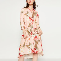 SHIRT - STYLE PRINTED TUNIC-View All-DRESSES-WOMAN | ZARA United States