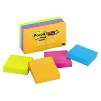 Post-it® Notes Super Sticky Pads in Jewel Pop Colors, Ninety 2 x 2 Sheets, 8 Pads/Pack : Target