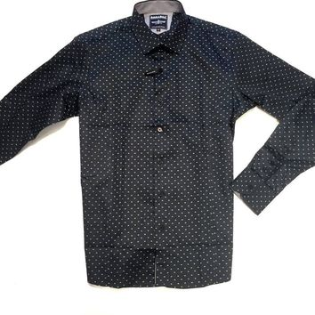Barabas Green Polka Dot Button Up Shirt