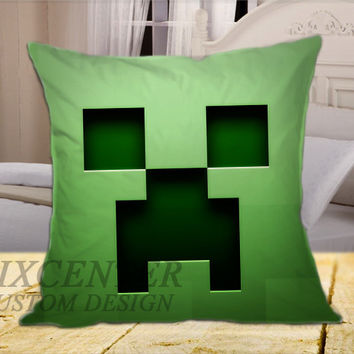 Minecraft on Square Pillow Cover