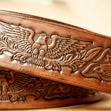 Custom leather belt, leather belt, mens leather belt, brown leather belt, wide leather belt, tooled leather belt, full grain leather, belts