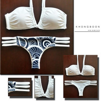 TOKYO - Handmade Brazilian Bikini Swimwear with Reversible Bottom & U-Ring Top