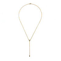 Pave Triangle Lariat