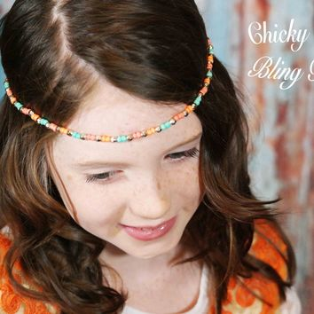 Simple Bohemian Single Strand Bead Headbands