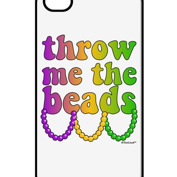Throw Me The Beads - Mardi Gras iPhone 4 / 4S Case  by TooLoud