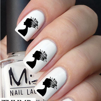 Flower Hair Nail Decal