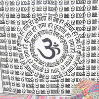 Indian God Om Tapestries Bohemian Tapestry Bad Covera Wall sheet wall hanging indian Cooton Wall sheet