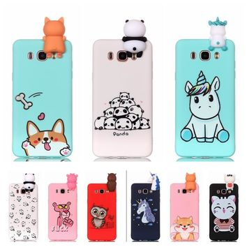 etui for Samsung Galaxy J5 2016 j510 Phone Case 3D Unicorn Panda Dog Silicone Case Cover on sFor Coque Samsung J5 J3 J7 J Cases