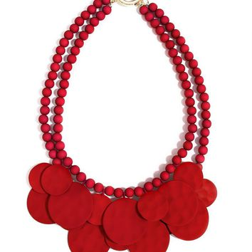 Zenzii Matte Medallion Bib Necklace