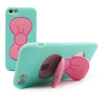 Soft Bowknot Stand Case for iphone 5s 5