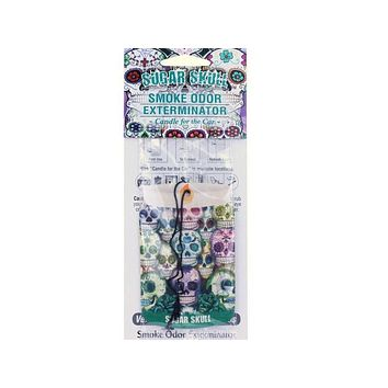 Smoke Odor Exterminator Car Hanger Sugar Skull