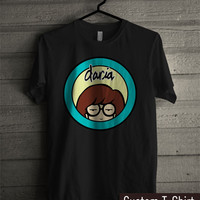Daria Cartoon Circle Logo  - tr3 Unisex Tees For Man And Woman / T-Shirts / Custom T-Shirts / Tee / T-Shirt