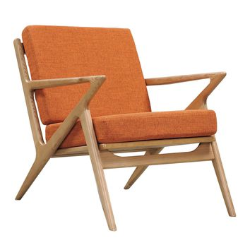 Jet Accent Chair ORANGE - NATURAL