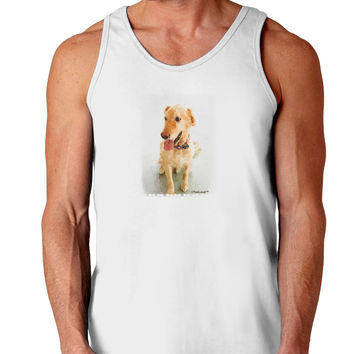 Golden Retriever Watercolor Loose Tank Top