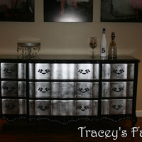 French Provincial Silver Leaf Dresser by TraceysFancy on Etsy