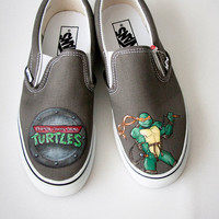 Teenage Mutant Ninja Turtles Custom Painted Shoes