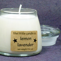 Lemon Lavender Soy Candle Jar - Hand Poured and Highly Scented Container Candles