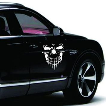 Dewtreetali 1pc Big Size 40x36CM Skull Head car sticker Engine Hood Door Window Truck Car Styling Reflective Decals Stickers