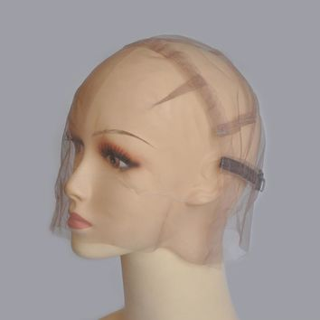Full Strong Swiss Lace Wig Cap For Making Wigs With Adjustable Straps Customizing Wigs Size S/M/L