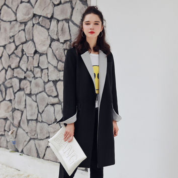 Fashion Trench Coat For Women with Long Full Sleeve